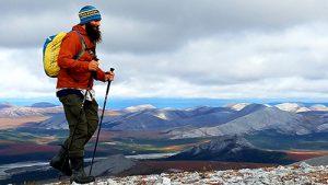 Cameron McMillan hikes Alaskan terrain.